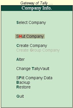 Image result for shut company in tally